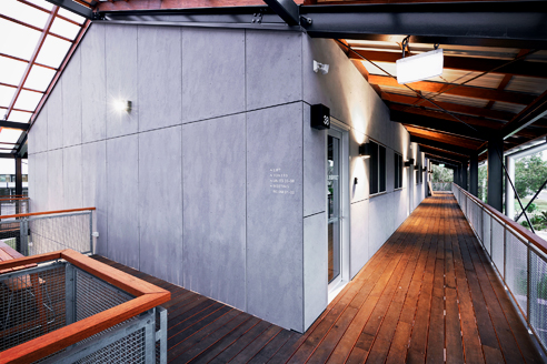 Through-coloured fibre cement panels from Fairview Architectural