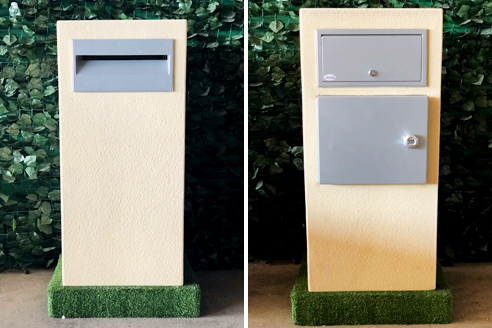 Parcel style letterboxs from Poly-Tek