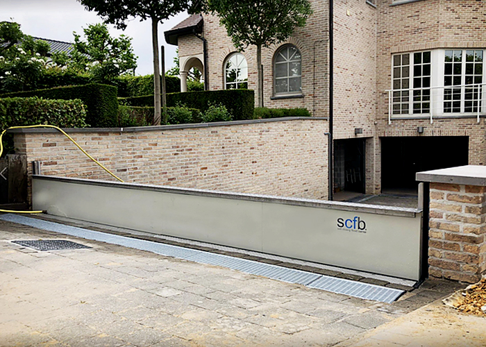 Hyflo Passive Flood Barriers for Driveways from Flooding