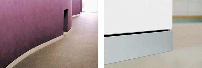 Decorum Flat Aluminium Skirting from Hazelwood & Hill
