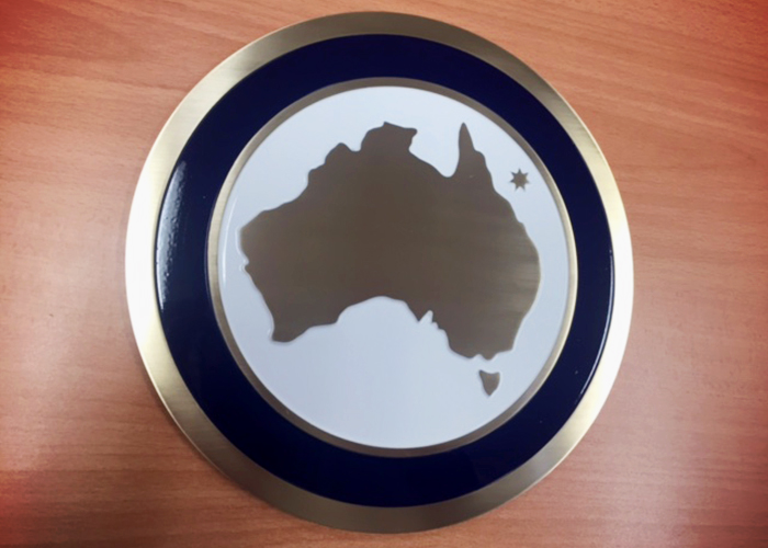 Beveled-edge Engraving from Architectural Signs Sydney