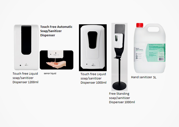 Touch-free Hand Soap & Sanitiser Dispensers from Star