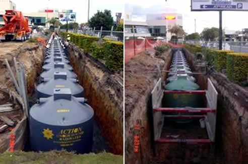 The Largest Polyethylene Underground Rainwater Tank In