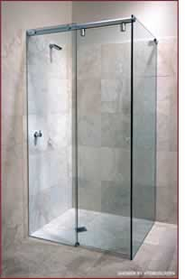 Invisible protective coating for glass shower screens from enduroshield - Shower glass protection ...