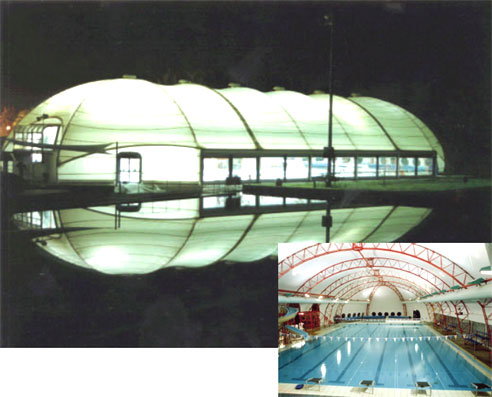 Pool enclosures by Tension Span Structures at Singleton Aquatic Centre