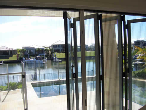 Retractable insect screens by national screens for bi fold for French door mosquito screen