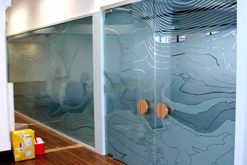 Office Partitioning And Wall Graphics By Sunscreen