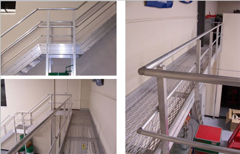 Roof Walkway And Handrail Systems From Abra Metals