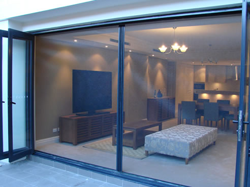 Artilux retractable flyscreens chosen for killara grand for Retractable insect screen door