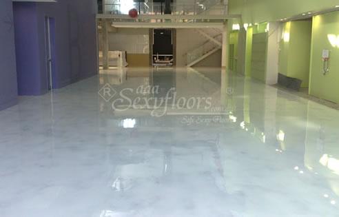 White Marble Epoxy Floor