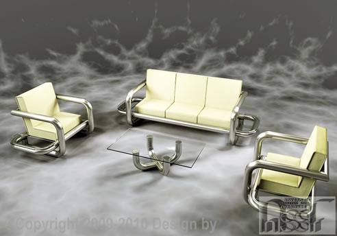 Tubular Lounge Suite, Advanced Stainless Steel Furniture Berkshire
