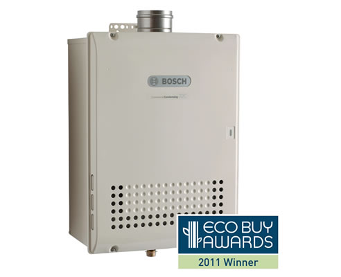 6 star energy efficient gas hot water system from bosch for Efficient hot water systems