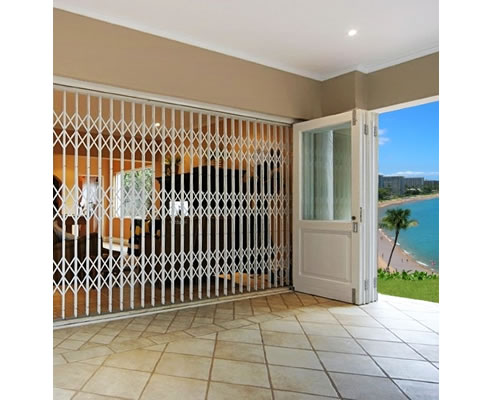 offset umbrella outdoor  sc 1 st  Spec-Net & Security Concertina Doors | The Australian Trellis Door Company