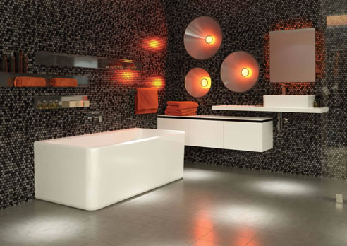 Back To Wall Freestanding Bath Cube From Caroma
