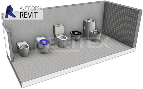 Free revit families for stainless steel toilets britex for Commercial bathroom fixtures stainless steel