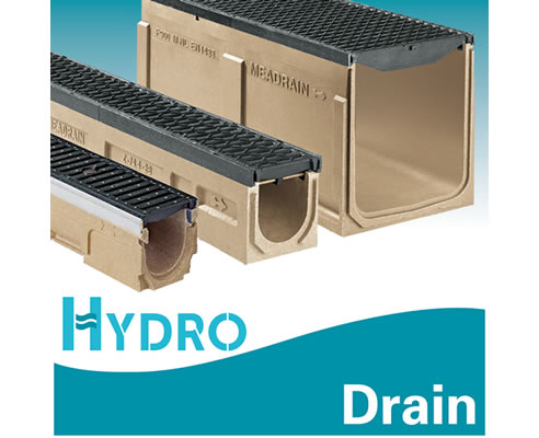 Drainage channels by meagard hydro construction products for Landscape channel drain