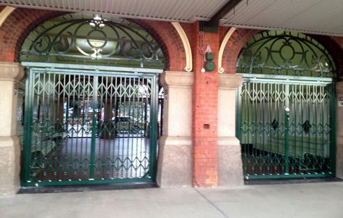 Folding Security Gates For Railway Station Trellis Door Co
