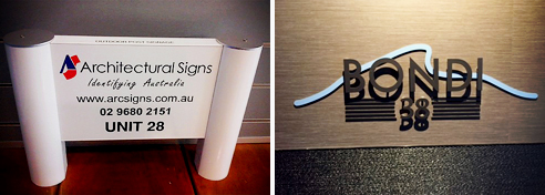 Commercial building signage from Architectural Signs
