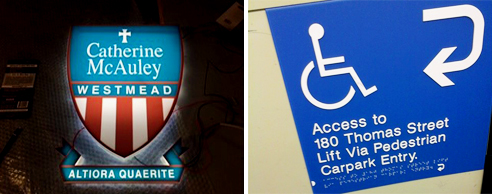 Hospital directory boards from Architectural Signs