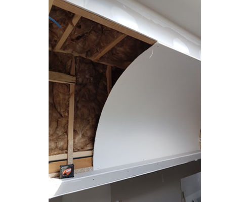 dome curve, framimg and insulation