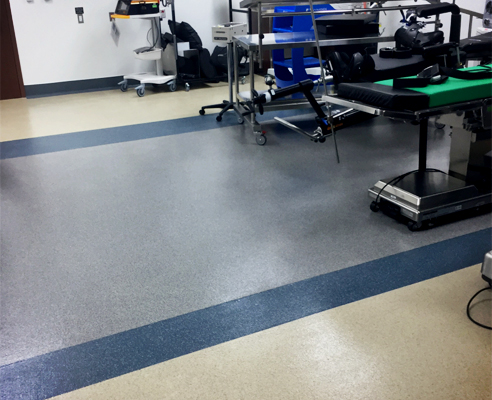 Operating room flooring from LATICRETE