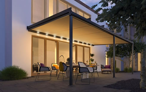 Sottezza II under-mounted conservatory awning