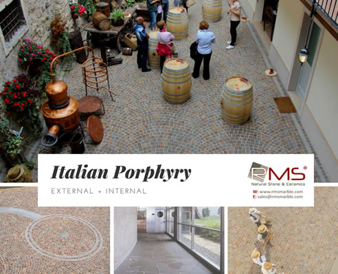 Italian Porphyry Paving Applications