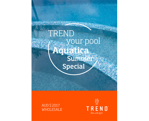 Pre-mounted pool tile support from Trend Group