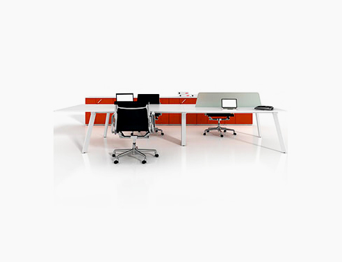 Modular desks from The Partition Company