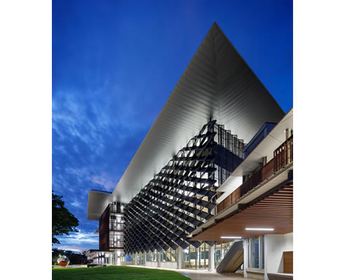 rhomboid shaped facade James Cook University Townsville