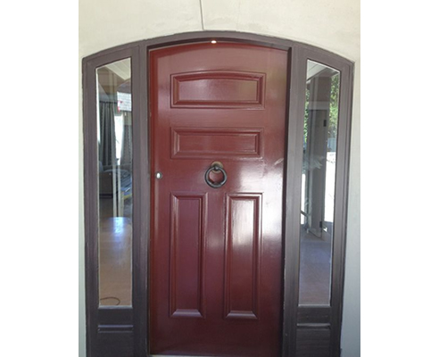 Timber Entrance Door for arched entrance
