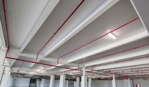 Kooltherm K10 PLUS Soffit Board was used in the Crown Towers Perth car park
