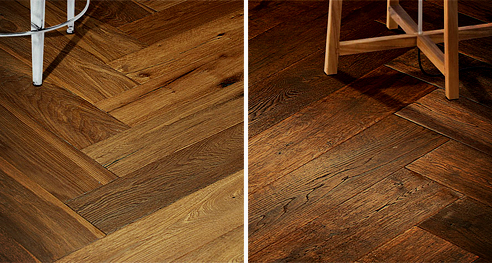 Herringbone floorboards from Wild River Timber Company