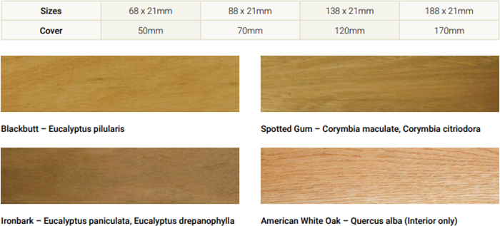 Hardwood Timber Wall Cladding Range from Hazelwood & Hill