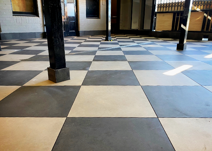 Commercial Floor Renovation for The Kent Hotel with LATICRETE
