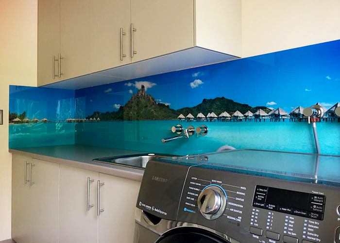 Custom Printed Laundry Splashbacks by Innovative Splashbacks