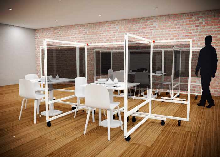 Framed Screens as Hygiene & Safety Barriers from Allplastics
