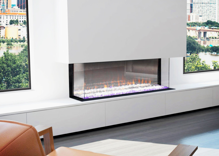 Modern Electric Fireplaces from Cheminees Chazelles
