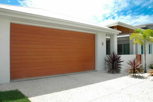 Timber Look Garage Doors By Steel Line From Decowood