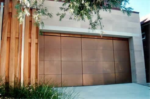 & Sectional overhead garage doors at Graham Day Doors in copper
