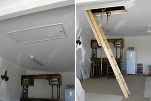 Timber Ceiling Ladders Brisbane From Access Ladders