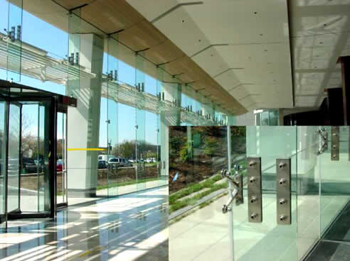 Austvision Spider Glass Fin System From Australian Glass