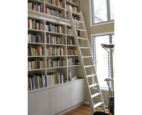 large ladder rail with bookshelf kit of loft urban canada bookcase uk kitchen beautiful library shelves bookshelves and size options sliding finish