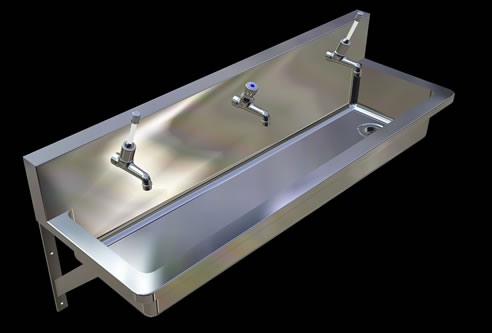 Stainless Steel Hand Wash Troughs For Schools Britex