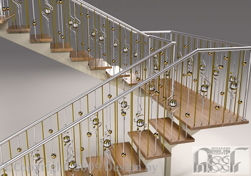 Elegant Staircase Balustrade, Advanced Stainless Steel ...