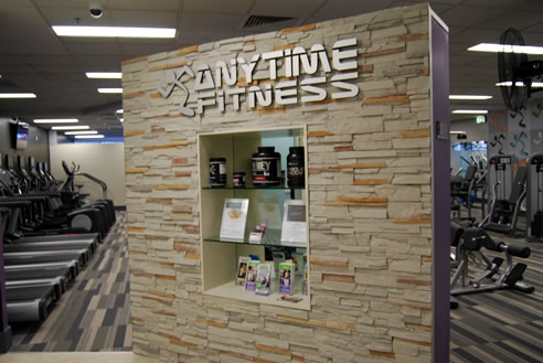 craftstone feature wall at anytime fitness