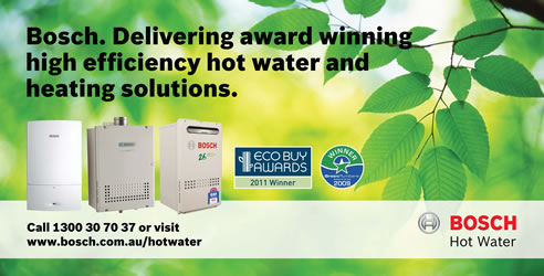 High efficiency hot water and heating solutions from bosch for Efficient hot water systems