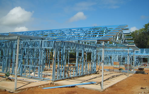 steel house frame