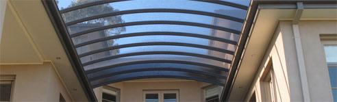 Curved Patio Structures From Light Amp Space Roof Systems