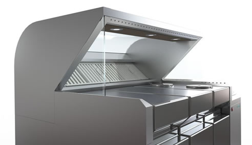 Mobile Cooking Station With Ductless Ventilation Stoddart